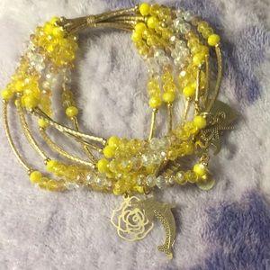 Jewelry - Artesanal Crystal Bracelet (7) w/18kt platedCharms